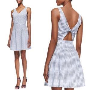 Joie Neilah Grid Print Cotton Cutout Sun Dress